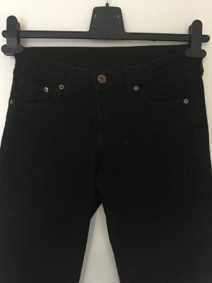 Schwarze low waist jeans