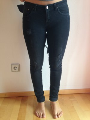 schwarze LTB Jeans - destroyed wash - W 28 L 32 - neu!