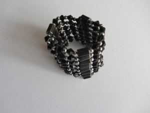 Bangle black-silver-colored no material specification existing