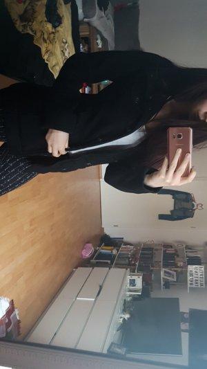 Schwarze Mantel Jacke