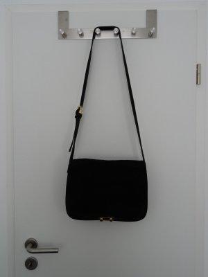 Schwarze MARNI cross body bag aus Veloursleder, NP 990€