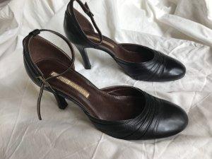 Buffalo Tacones Mary Jane negro Cuero