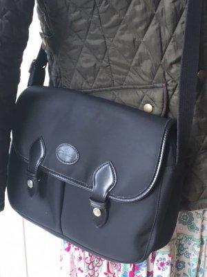 Schwarze Messenger Tasche Original Longchamp