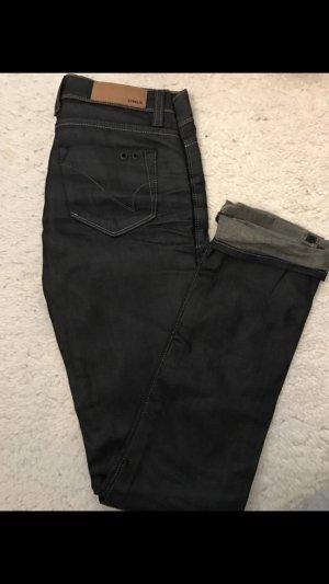 Schwarze (metallic) Jeans  von ONLY Gr. W26/L34