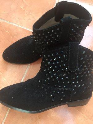 Schwarze Michael Kors Cowboy Boots