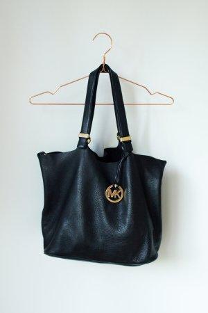 schwarze Michael Kors Tasche Wendetasche Shopper Bag Colgate MK Echtleder