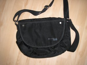 Schwarze, mittelgroße Handtasche, Nylon Marc O'Polo