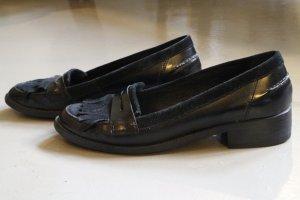 Schwarze Mokassins/Loafer