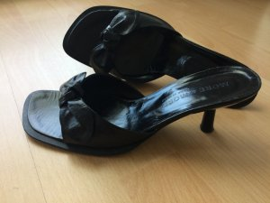 Schwarze More & More Zehen Sandalette