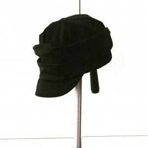 schwarze mütze / capi / hut / vintage / truevintage / boho