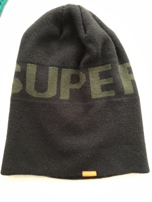 Schwarze Mütze von Superdry