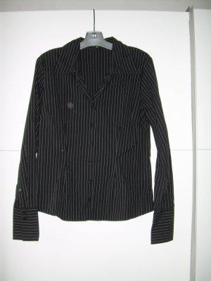 schwarze Nadelstreifen-Bluse von Amisu Gr. XL 42 Business