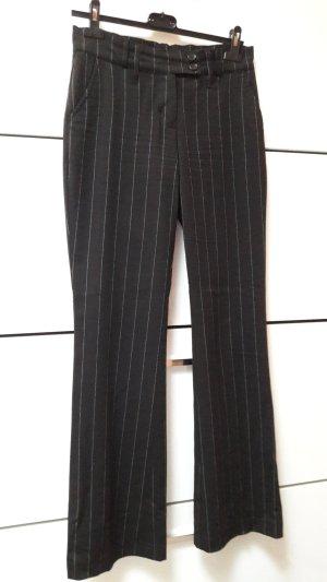 Schwarze Nadelstreifenhose von Amisu, Größe 36
