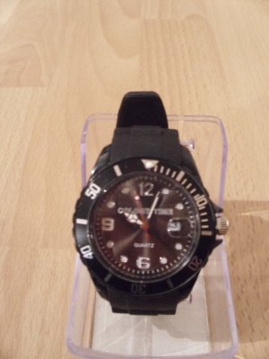schwarze NEUE Uhr im Ice Watch Stil