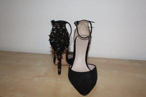 Schwarze Nieten Pumps Zara