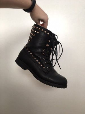 Lace-up Boots black imitation leather