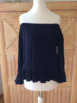 Schwarze Off Shoulder Bluse