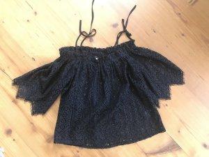 H&M Carmen Blouse black mixture fibre