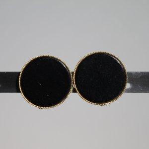 schwarze Ohrclips mit goldfarbenem Rand