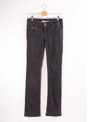 schwarze Only Jeans, niedriger Bund