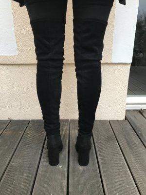 Schwarze Overknee Stiefel (Asos)