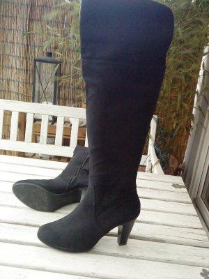 """schwarze Overknee-Stiefel Größe 41  """"van der Laan"""""""