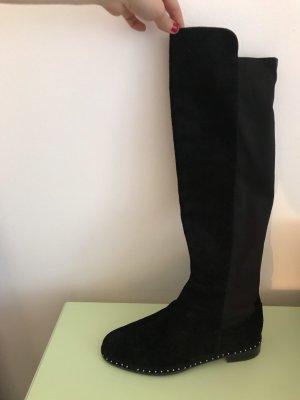 Schwarze Overknee Stiefel von Bruno Premi