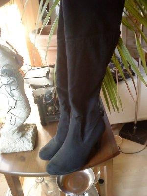 """schwarze >Overknee-Stiefel von """"van der Laan"""" Größe 41"""