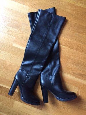 Schwarze Overknees Boots