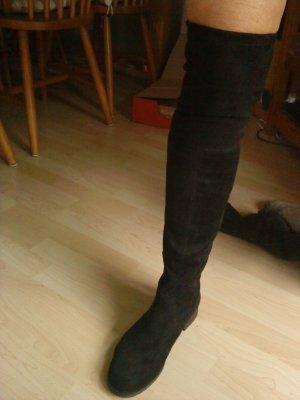 schwarze Overknees Größe 39,5