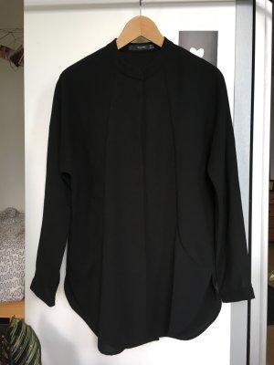 Schwarze Oversize-Bluse