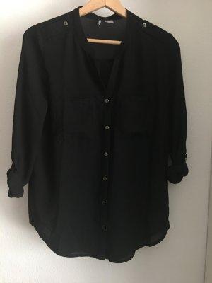 schwarze oversize bluse von h&m