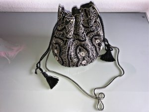 Schwarze Pailetten Bucket Bag