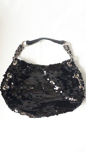 Schwarze Pailetten Handtasche