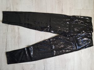Schwarze Pailetten- Leggings