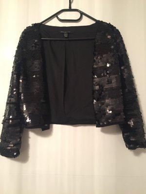 Schwarze Pailletten Jacke