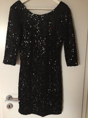 Schwarze Pailletten Kleid