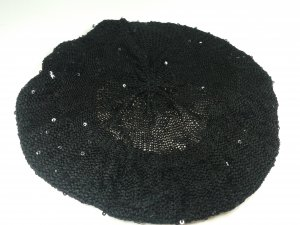 H&M Fabric Hat black-silver-colored