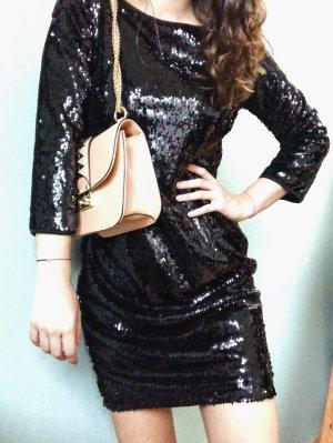 Schwarze Paillettenkleid