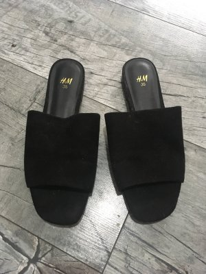 H&M Zuecos negro