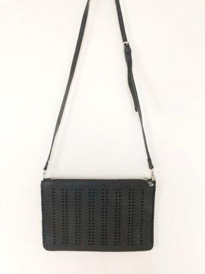 Schwarze PARFOIS Handtasche/Clutch mit Cutouts. Abnehmbarer Riemen. NEU