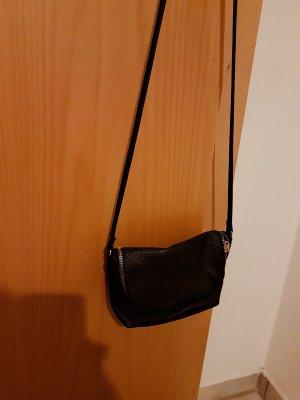 schwarze partybag lederoptik
