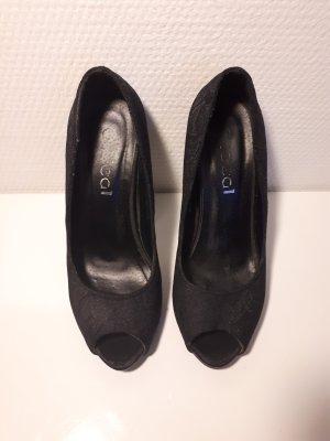 schwarze Peeptoes