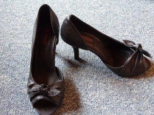 Escarpins à bout ouvert noir