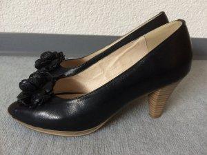 schwarze Peeptoes von Andrea Conti - einmal getragen . Gr. 38