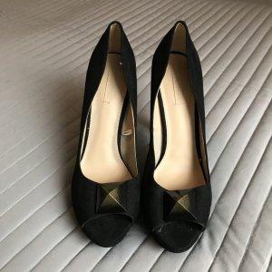 Schwarze Peeptoes von Zara
