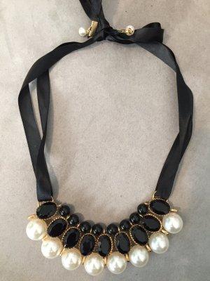 schwarze Perlenkette zum binden