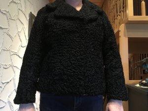 Schwarze Persianer Jacke - Echtpelz