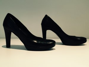 schwarze Plateau High Heels
