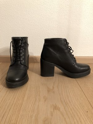 Asos Bottines à lacets noir